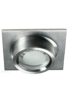 SC-02 SNS - Spot încastrat argintiu cilindric cu bază pătrată