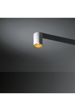 Lotis - Spot aplicat alb cu interior auriu