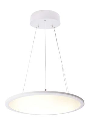 Transparent Rund 3000 K - Lampă suspendată de birou rotundă din aluminiu