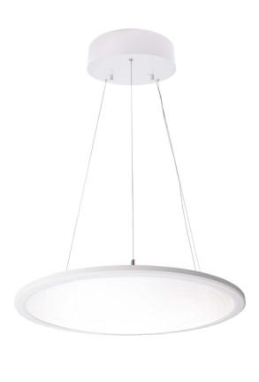Transparent Rund 4000 K - Lampă suspendată de birou rotundă din aluminiu