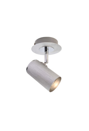 Indi I - Plafonieră argintie ajustabilă
