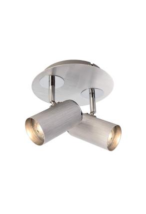 Indi II - Plafonieră argintie ajustabilă