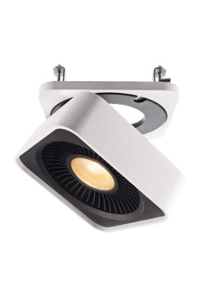 Black&White IV - Spot aplicat pătrat din aluminiu
