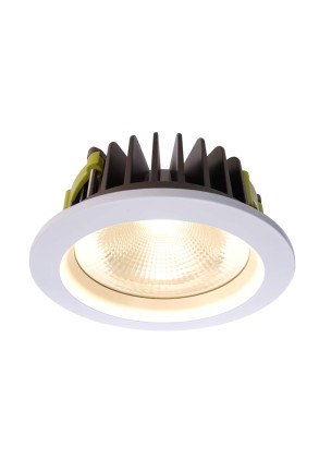Cob 170 3000 K - Lampă rotundă încastrată din aluminiu