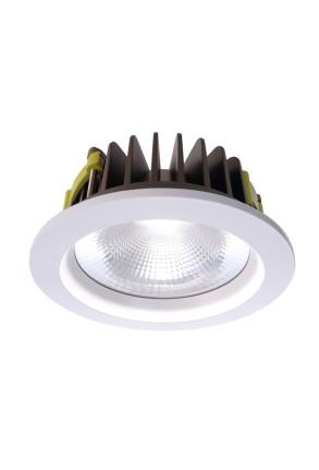 Cob 170 4000 K - Lampă rotundă încastrată din aluminiu