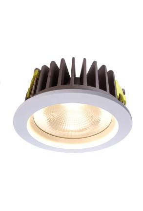 Cob 210 3000 K - Lampă rotundă încastrată din aluminiu