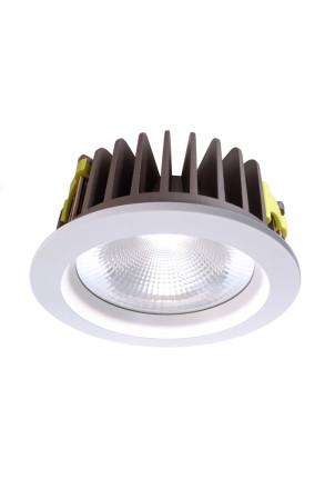 Cob 210 4000 K - Lampă rotundă încastrată din aluminiu