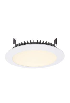Led Panel Round III 26 3000 K - Lampă albă încastrată din aluminiu