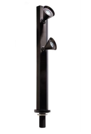 Karva II - Lampă pentru vitrină negră cu 2 surse de lumină