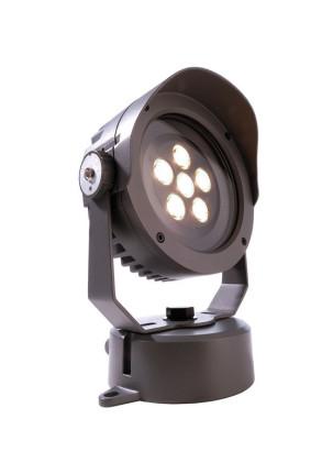 Power Spot VI 3000 K - Proiector rotund negru din aluminiu