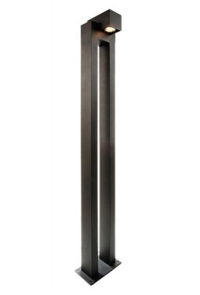 Taco II - Bolard gri rectangular din aluminiu
