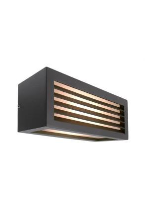 Wall Line III - Aplică neagră rectangulară de exterior