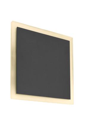 Volantis - Aplică gri pătrată din aluminiu de exterior