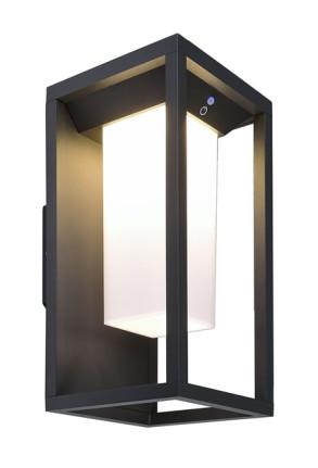 Samas - Aplică solară gri rectangulră din aluminiu