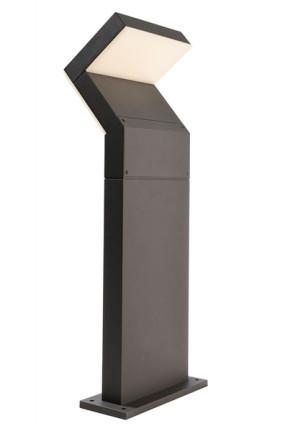 Taygeta 600 - Bolard gri modern din aluminiu