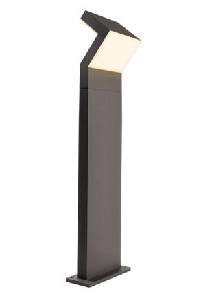Taygeta 1000 - Bolard  gri modern din aluminiu