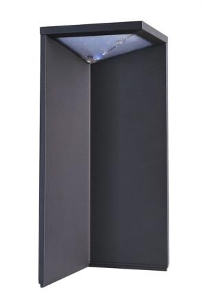 Lugh Solar - Lampadar negru modern din aluminiu