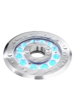 Wave II RGB - Lampă subacvatică rotundă din oţel inoxidabil