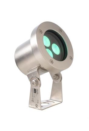 Fiara RGB 10.3 W - Lampă subacvatică rotundă din oţel inoxidabil