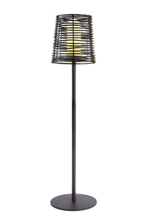 Velorum - Lampadar negru din plastic în stil minimalist