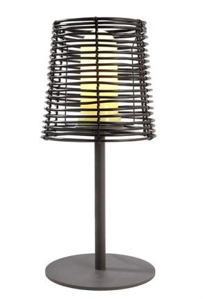 Velorum - Lampă neagră portabilă din plastic în stil minimalist