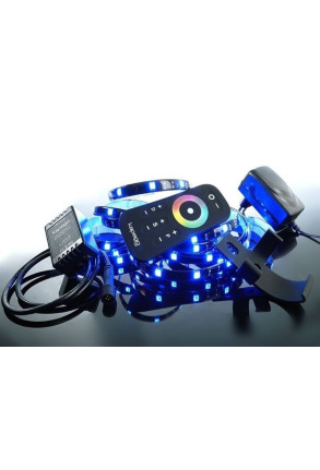 Set bandă LED RF 5050 RGB 2.5 m. Silicon