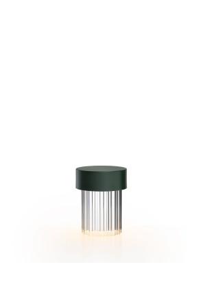 Last Order Fluted - Lampă portabilă verde din cristal
