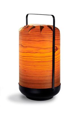Chou Tall - Lampă portabilă cilindrică din furnir