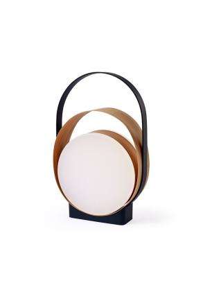 Loop I - Lampă portabilă din furnir cu linii curgătoare