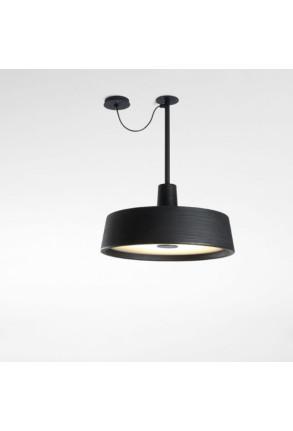 Soho C Fixed Stem - Pendul negru cu difuzor opal