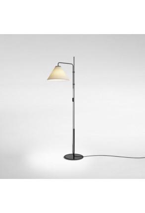 Funiculí Fabric - Lampă de podea neagră cu abajur alb sau crem