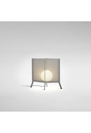 LaFlaca 60 - Lampadar gri din textil