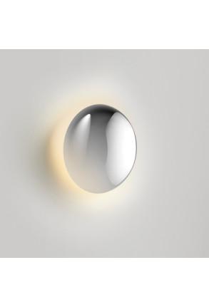 Babila Ø18 - Aplică argintie rotundă