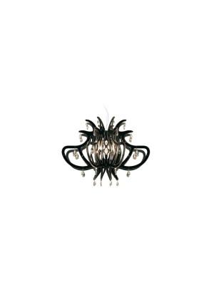Medusa - Candelabru negru cu 56 de cristale