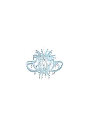 Medusa - Candelabru albastru cu 56 de cristale