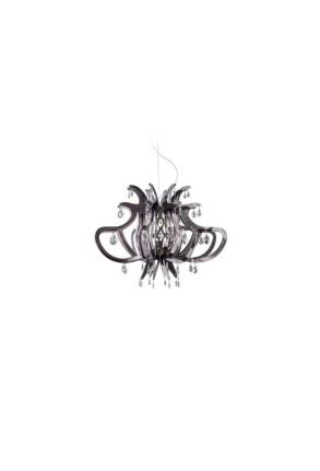 Medusa - Candelabru negru transparent cu 56 de cristale