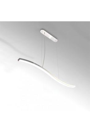 Morfi Medium Linear - Lampă suspendată de birou argintie