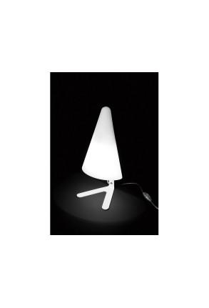 Nan E27 - Lampă de podea albă conică