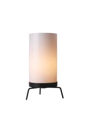 PM-02 - Lampă de masă neagră cilindrică din sticlă