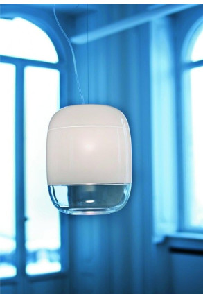 Gong Led S3 - Pendul alb din sticlă