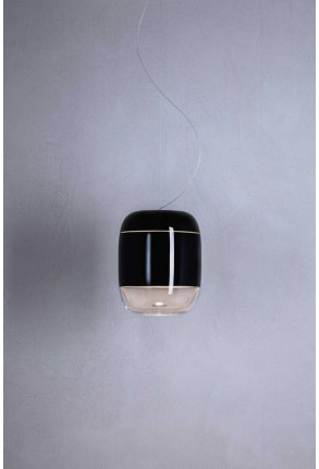Gong Led S3 - Pendul negru din sticlă