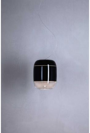Gong Led S5 - Pendul negru din sticlă
