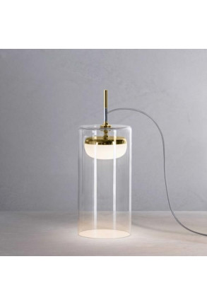 Diver T3 I - Lampă de masă transparentă cu finisaj auriu