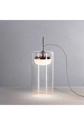 Diver T3 II - Lampă de masă transparentă cu finisaj cupruriu