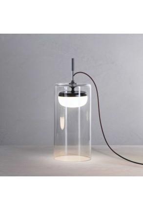 Diver T3 - Lampă de masă cu abajur transparent din sticlă